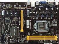 Полный новый, BIOSTAR H81A материнская плата 6 PCI E видеокарта блок питания ATX LGA 1150 DDR3 памяти Core i3 i5 i7 4690