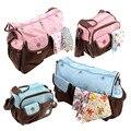 2PCS Set Infant Baby Nappy Bag Diaper Bag Maternity Bag Pregnant Women Shoulder Bag Waterproof Mother Storage Pouch MM02H