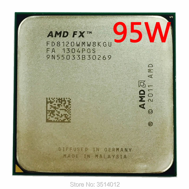 AMD FX Series FX 8120 FX 8120 3.1 GHz Eight Core CPU Processor FD8120WMW8KGU Socket AM3+