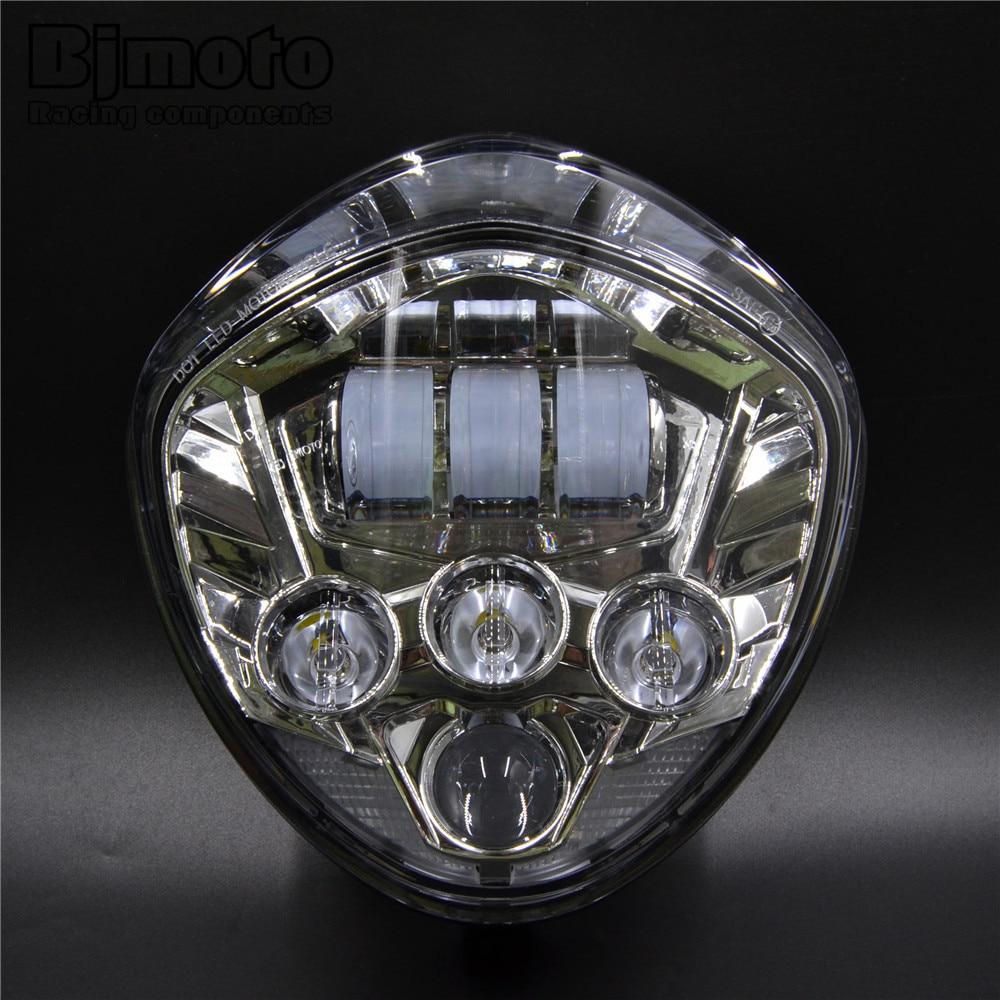 BJMOTO EMARK Motorcycle LED Headlight High-intensity Cross Country LED HI/LO Headlights Kit 60W For Victory CRUISERS 2007-2016 цена