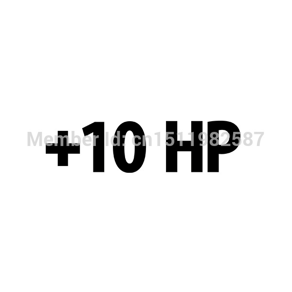 Plus 10 hp decal 10 horsepower racing car window jdm funny vinyl sticker for reflector truck bumper auto suv cool graphical on aliexpress com alibaba