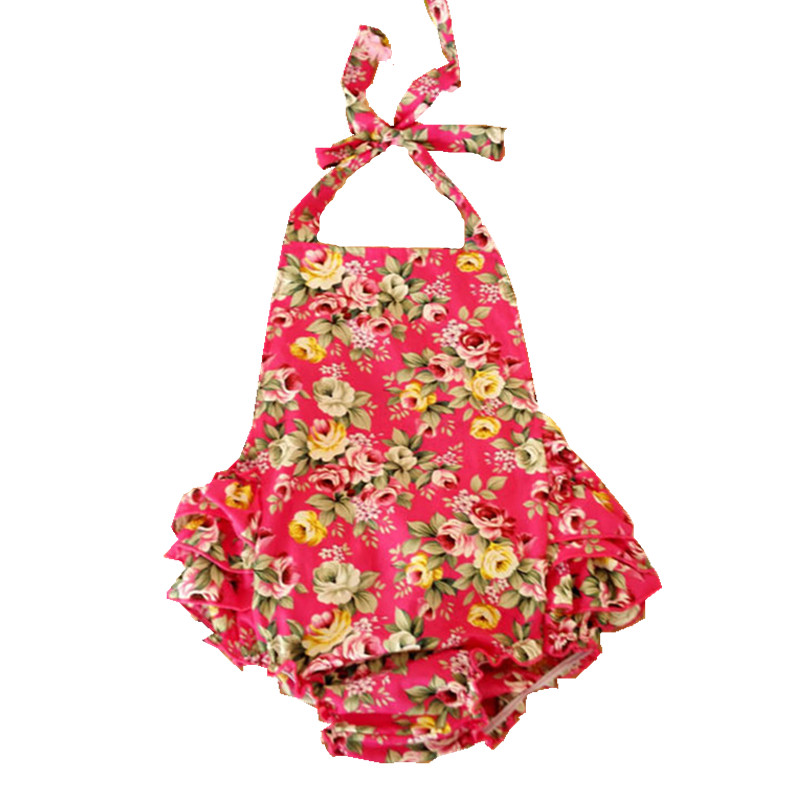 2016 Summer Newborn Baby Girl Clothes Floral Sleeveless Baby Romper for Babies Girls Costumes Vetement Bebes Cotton Clothing R2 puseky 2017 infant romper baby boys girls jumpsuit newborn bebe clothing hooded toddler baby clothes cute panda romper costumes