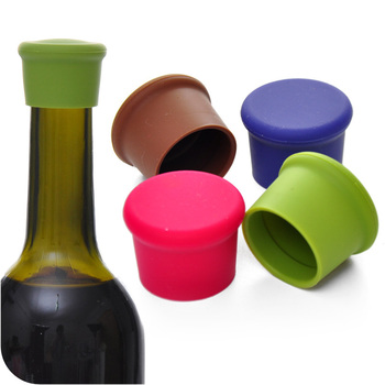 Silicone Wine Bottle Stoppers Approved Food Grade Silicone Durable Flexible Wine Bottle Stopper image