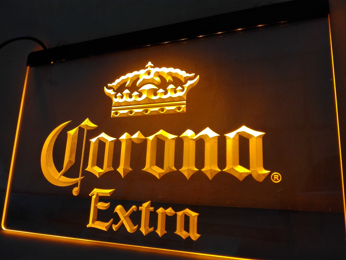 Le013 Corona Extra Beer Bar Pub Cafe Led Neon Light Sign