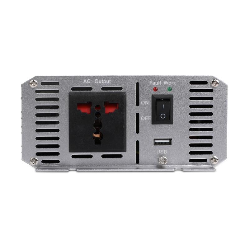 Car Inverter 1500W DC 12V to AC 220V Power Converter with Light Cigarette Lighter Outlet Buzzer Alarm Camper Charger - 5