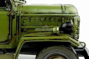Image 5 - Antique classical military truck model retro vintage wrought  metal tinplate car handmade Creative home furnishings