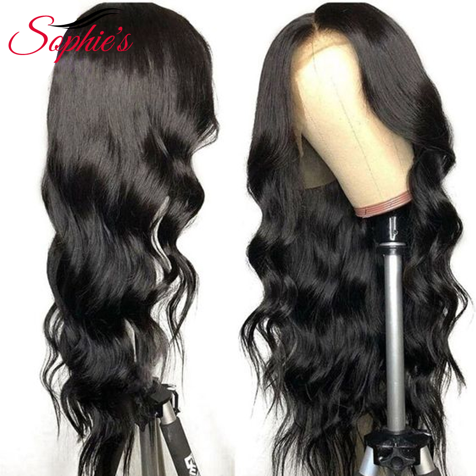 Sophie s Brazilian Body Wave 4 4 Lace Closure Wigs Pre Plucked With Baby Hair Remy