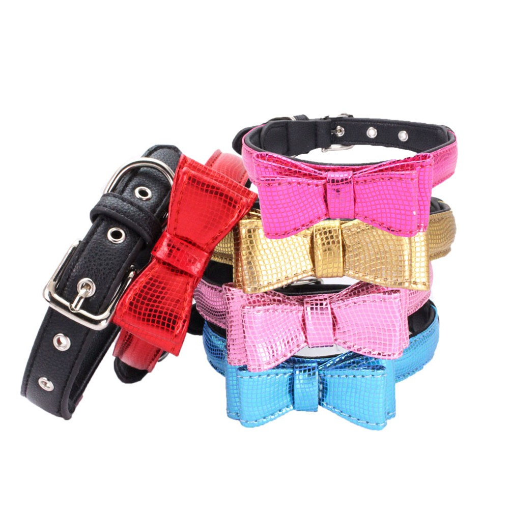 Pet Products Collar for Dogs Supplies Exquisite Adjustable Dog Puppy Pet Collar Serpentin Shape Printed Bow Pet Collar