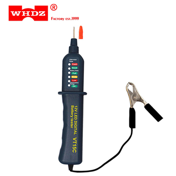 WHDZ VT15C 12V Car Battery Tester Digital Auto Alternator Analyzer Before Charge Check Diagnostic Tool Voltmeter 6 LED Lights image