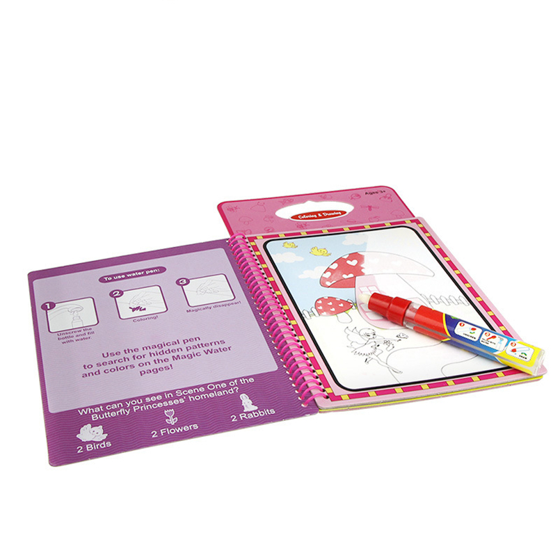 Drawing Board With Magic Pen Aqua Doodle Sketchers Scratch Paper Stencils For Painting Kid Game Coloring Book Kids