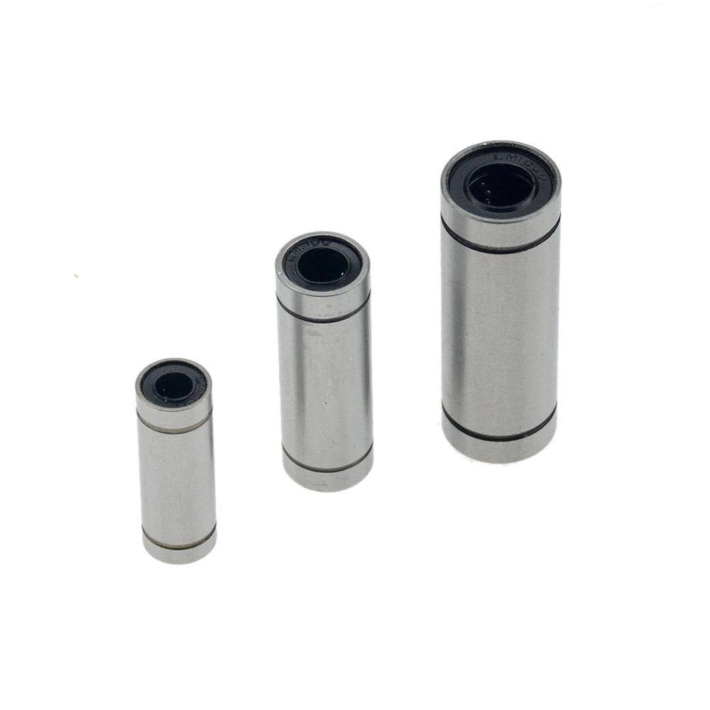 10pcs/lot LM8UU LM10UU LM16UU LM6UU LM12UU LM3UU Linear Bushing 8mm CNC Linear Bearings For Rods Liner Rail Linear Shaft Parts