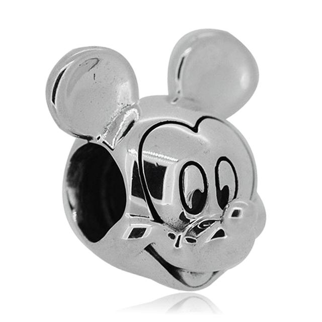 Free Shipping 1pc Silver Cute Mouse Beads Charms Fit European Pandora Style Charm Bracelets And Necklaces