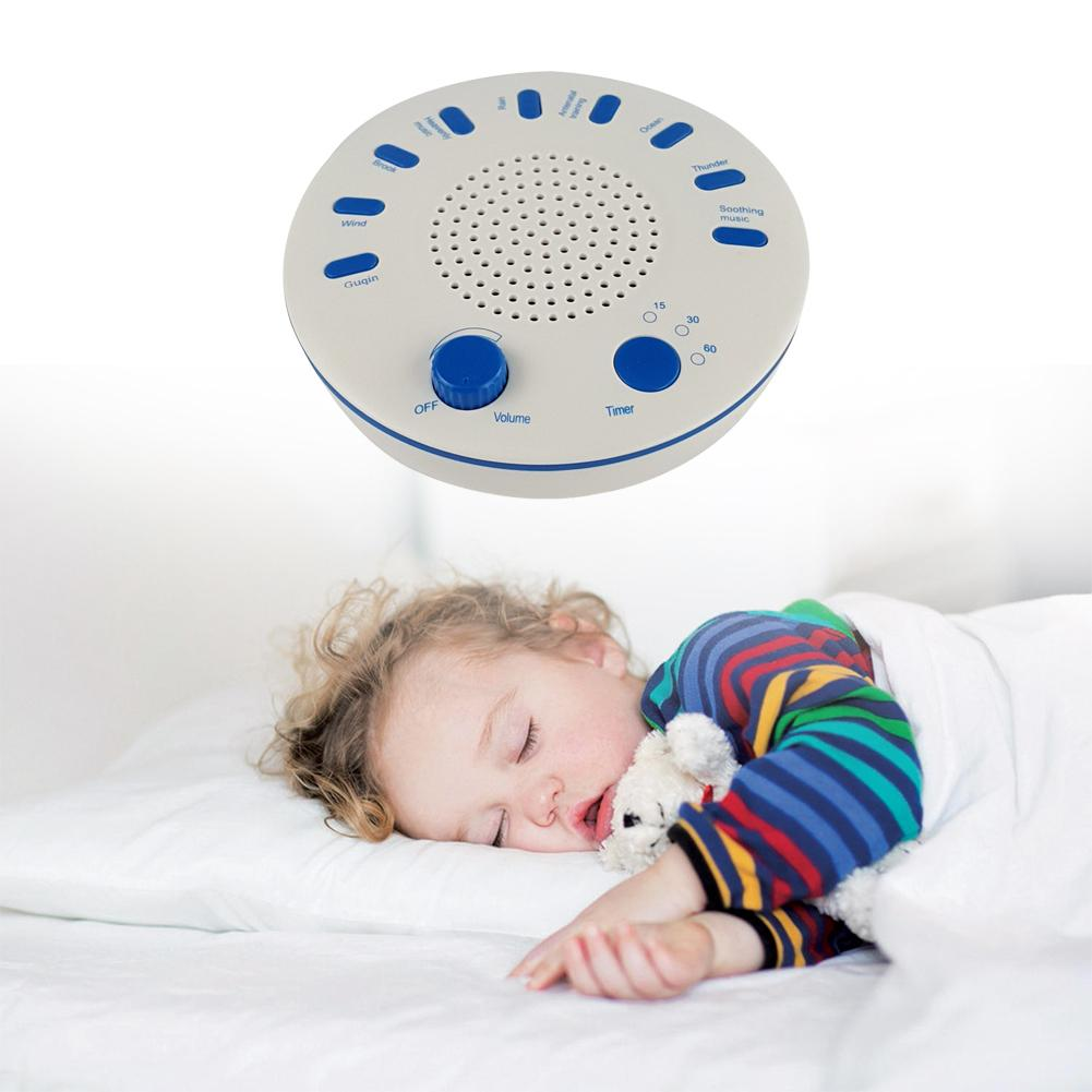 Babys High Sound Quality Timing Music Sleep Aid Device White Noise Machine Sound Machine Music Player with Night Light Preset 5