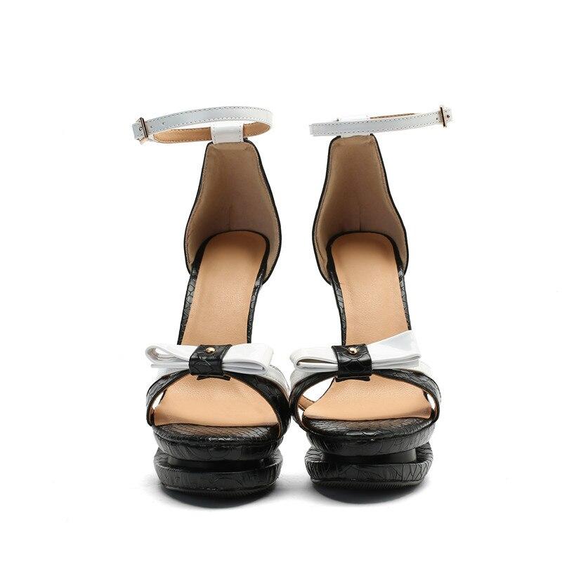 Noir La forme Karinluna Femmes Boucle Pompes De Mariage Plate Plus 34 Taille D'orteil 2019 Ouvert Chaussures Partie 47 Mode Femme Sangle wwzqxR1