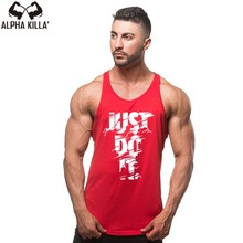 New Fashion Just Do It Tank Top Brand Clothing Hip Hop Letter Print Men Tank TopS
