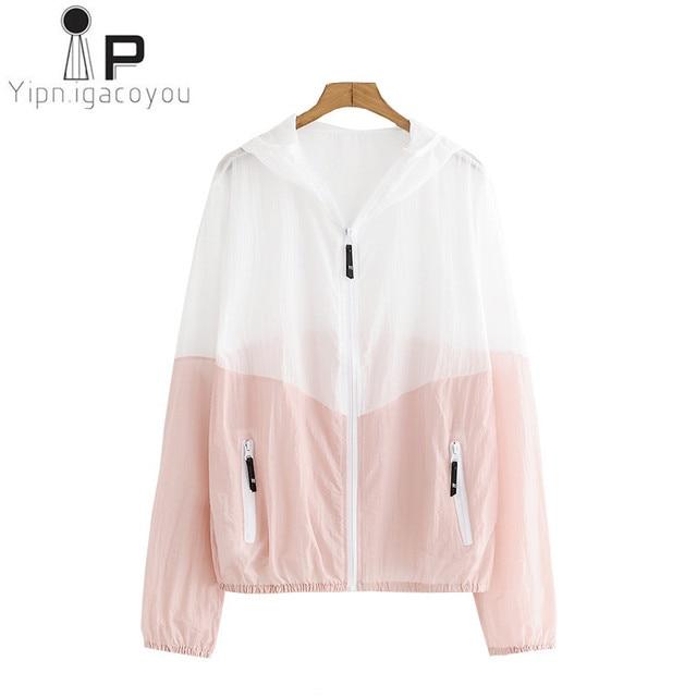 0e9d93771c73 Harajuku Thin Short Sunscreen Coat Women Summer Jacket Korean Ladies Big  size Hooded Female Jacket Women