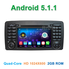 Quad core 1024*600 Android 5.1.1 Car DVD Player GPS for Mercedes/Benz R Class W251 R280 R300 R320 R350 R500 with Radio WiFi BT