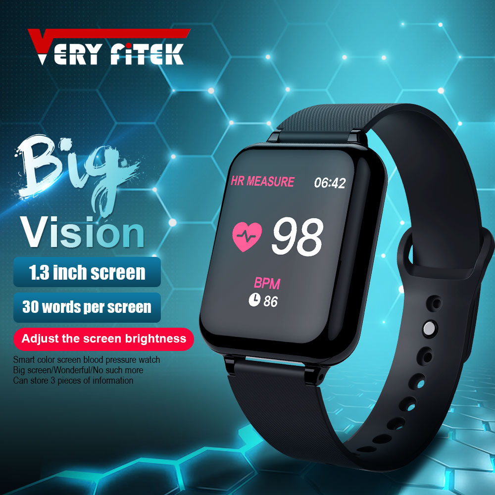 VERYFiTEK AW4B Smart Watch Blood Pressure Oxygen Fitness Bracelet Watch Heart Rate Monitor IP67 Men Women Sport Smart watch