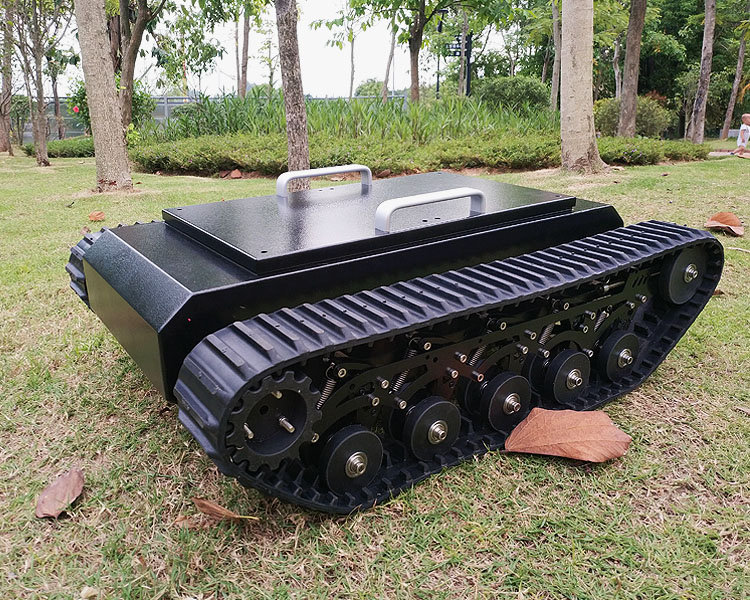 New TR500 Tank Car chassis Stainless Steel Frame Structure 8cm Rubber Track 50kg High load High