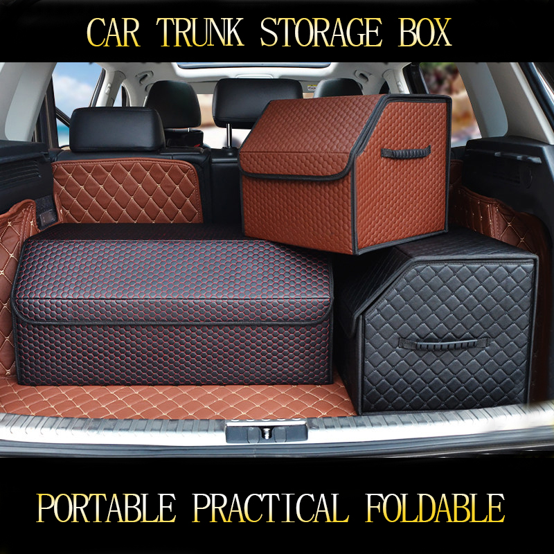 car trunk organizer storage box for Benz Ford toyota boot  foldable Auto Trunk accessories stying