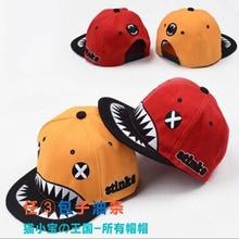 Brand New Shark Embroidery Spring Summer Hip Hop Hat Fashion Caps Snapback Good Baseball Cap Kids Unique Girls Boy Cap Child