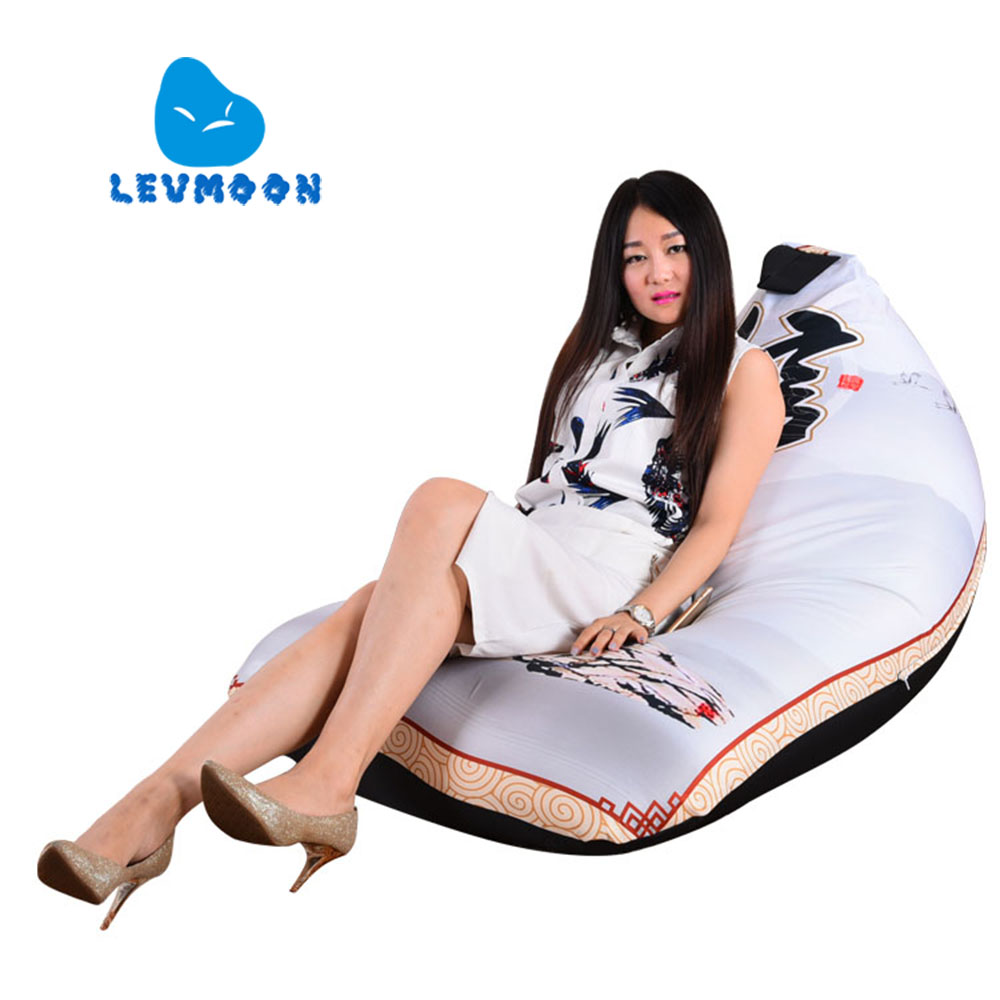 LEVMOON Beanbag Sofa Xin Printing Seat Zac Comfort Bean Bag Bed Cover Without Filling Cotton Indoor Beanbags Lounge Chair levmoon beanbag sofa landscape painting seat zac comfort bean bag bed cover without filling cotton indoor beanbags lounge chair