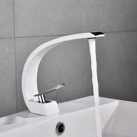 Basin Faucets Modern Bathroom Sink Mixer Tap Brass Washbasin Faucet Single Handle Single Hole Elegant Crane For Bathroom E