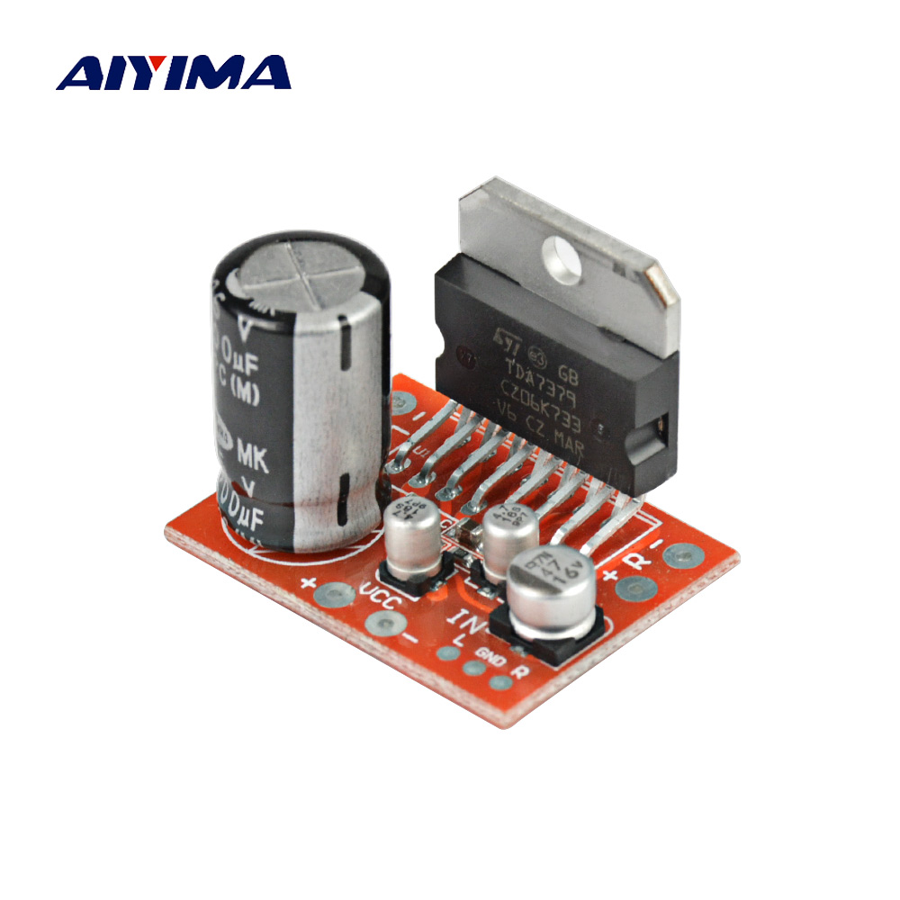 AIYIMA Amplifiers Audio Amplificador TDA7379 Power Amplifier Board 39W X 39W DC Stereo Amp Board