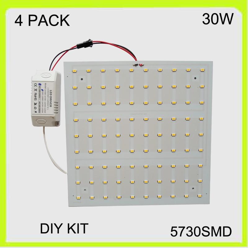 Manufacturer 4 PACK square 5730SMD 30W LED light panel led ceiling LED luminares techo de LED