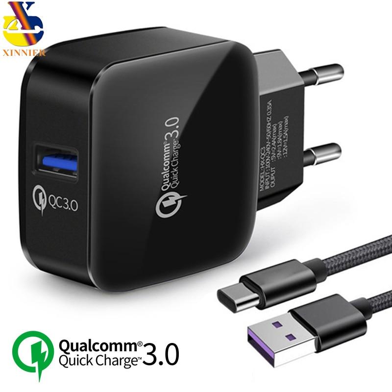Chargeur USB 18 W pour téléphone portable chargeur rapide 3.0 adaptateur USB pour HTC M8 M8 SONY XZ/XZ Premium LG G5 G6 V20 V30