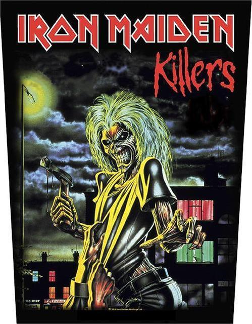 IRON MAIDEN – KILLERS – BACK PATCH – BRAND NEW – MUSIC art silk Poster