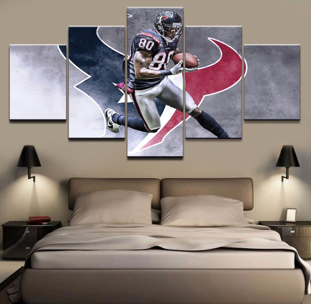 5 Piece Canvas Painting Houston Texans Poster Cuadros Decoracion Paintings On Wall Art For Home Decorations Decor