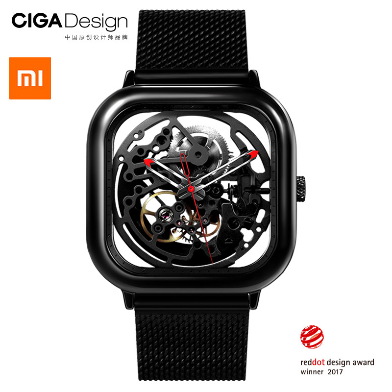 Xiao mi Цзя mi CIGA дизайн выдолбленные Механические часы Reddot победитель из нержавеющей стали модные роскошные автоматические часы