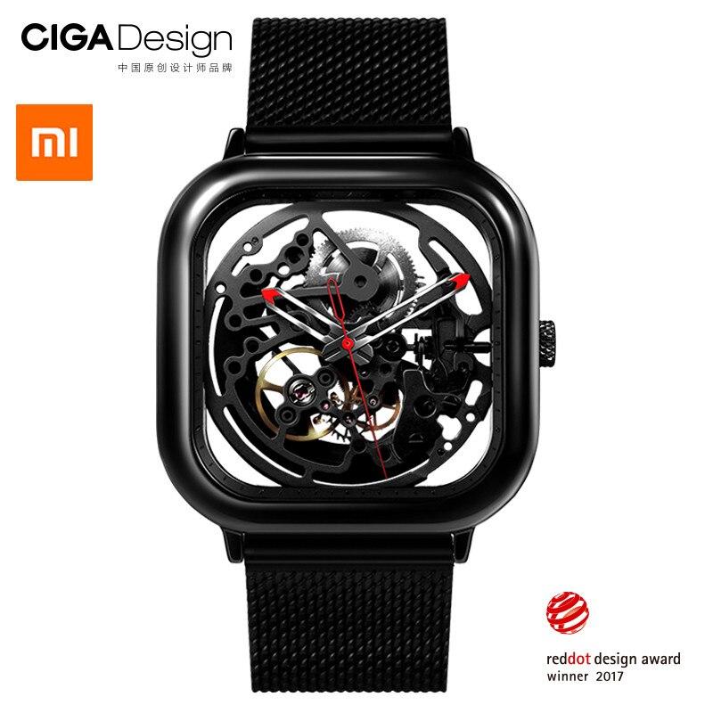 Xiao mi mi mi jia CIGA Projeto Escavado-out relógios de Pulso Mecânicos Relógio Reddot Vencedor Moda Relógios De Luxo Automático Inoxidável