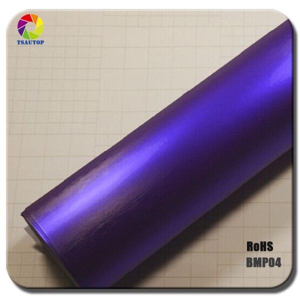 1,52x20 м воздушные пузыри оранжевый цвет матовый жемчуг углеродного волокна виниловая обертка - Название цвета: purple