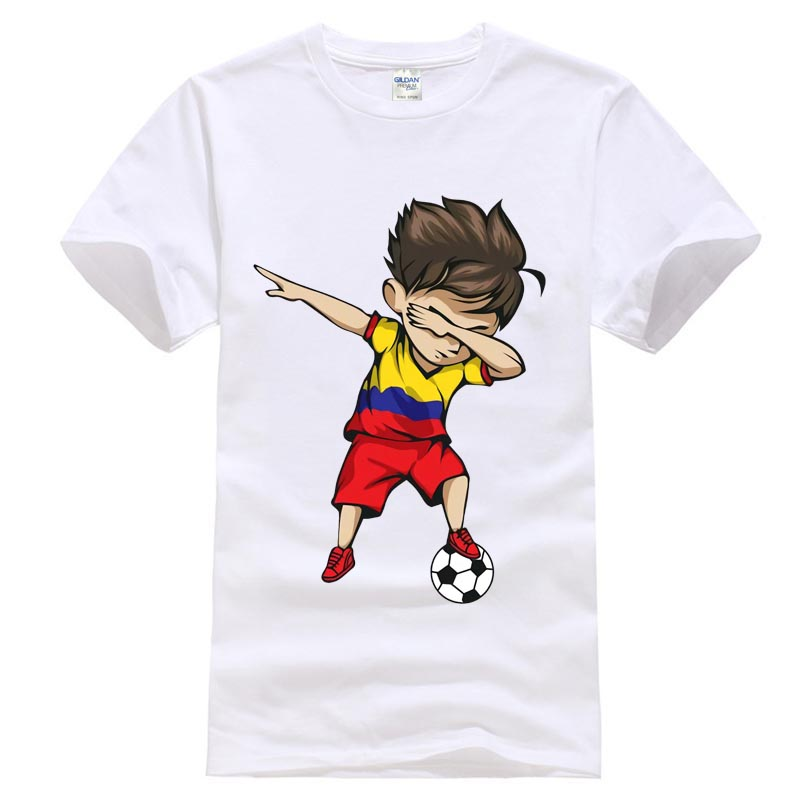 4862b9a72 Dabbing Soccerly Boy Colombia Jersey Shirt Footballer T shirt Different  Colours High Quality 100%-in T-Shirts from Men s Clothing on Aliexpress.com  ...