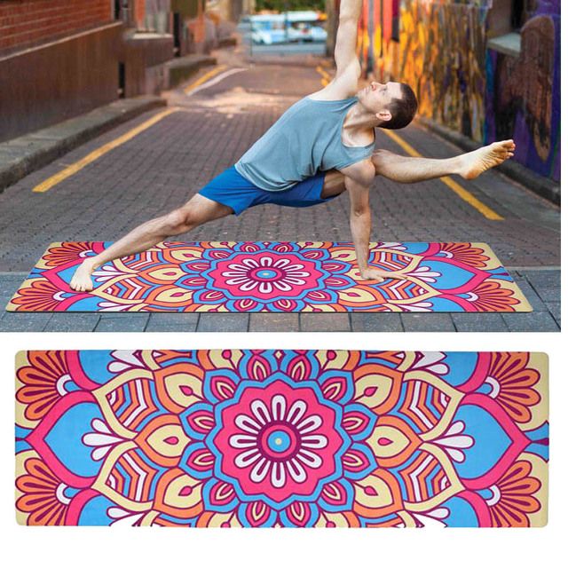 Non-slip Yoga Mat For Fitness Natural Rubber Suede Sports Yoga Mat Multifunction Also For Gym Pilates Travel Mat 183*61*0.1cm