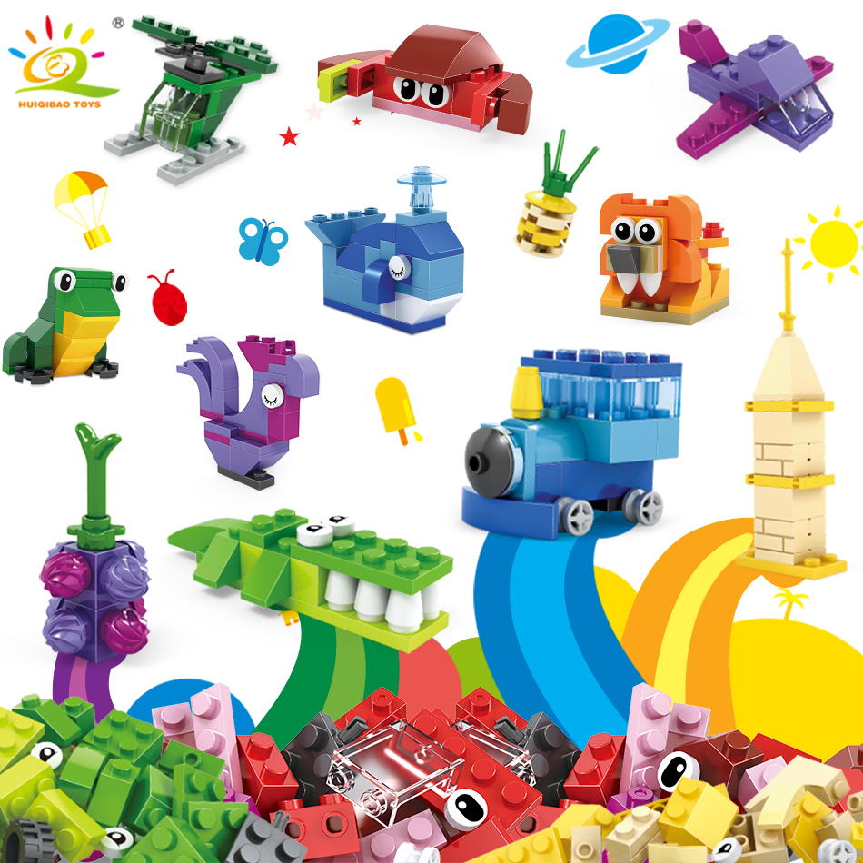 550pcs Creative Bricks Classic DIY Building Blocks Compatible Legoed City train animal Colorful Enlighten Toys For Children boy lepin city town city square building blocks sets bricks kids model kids toys for children marvel compatible legoe
