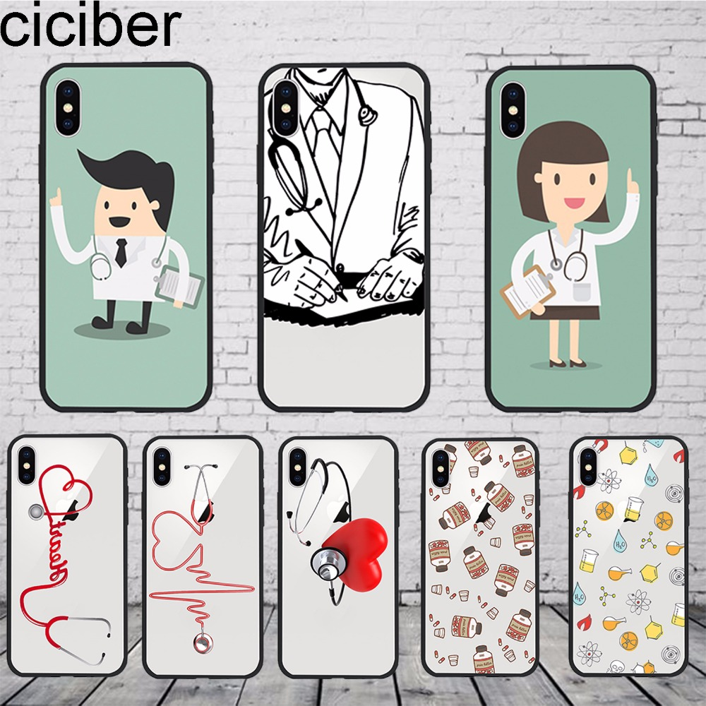 Ciciber Medical Devices Doctor Medicine Stethoscope Soft Tpu & Pc Phone Case Back Cover For Iphone 6s 7 6 8 Plus Coque Fundas In Many Styles Phone Bags & Cases Fitted Cases