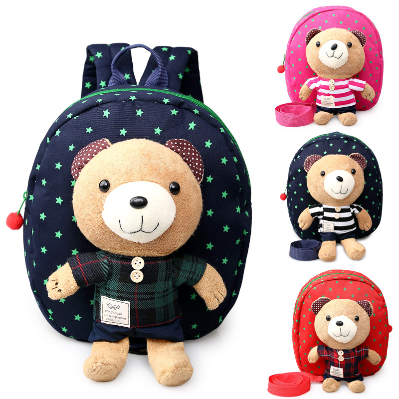 Hot Sale New 1-3 Years Old Baby Keeper Toddler Walking Safety Harnesses Bear Backpack Strap Bag