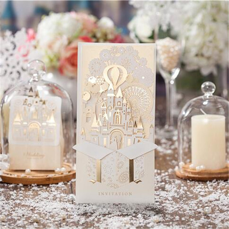 Wedding Inviting Card Baby Shower Elegant Laser Cut Christmas Paper Event font b Party b font luxury party invitations promotion shop for promotional luxury,Laser Cut Party Invitations