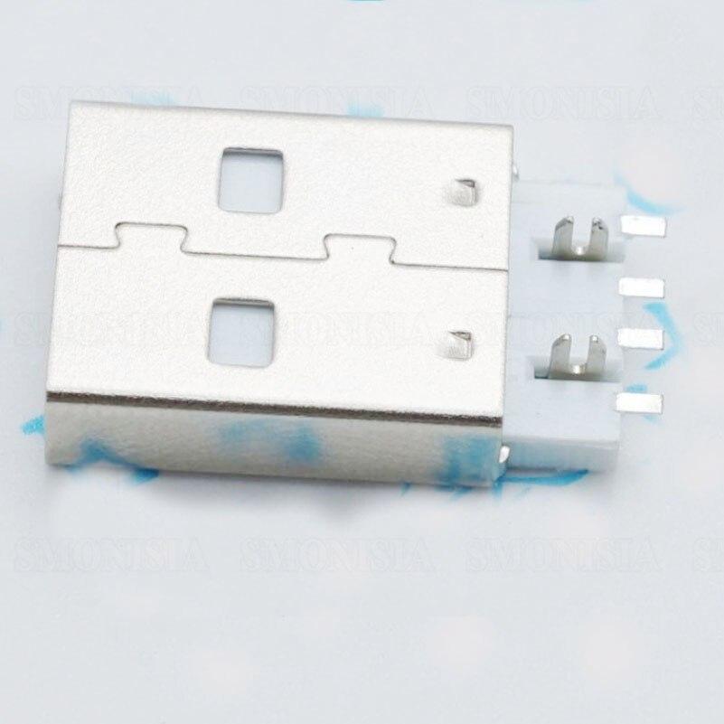 все цены на A Type Male Plug Harpoon Shape 180-degree USB Socket Common Use For USB Flash Disk SMD Type онлайн