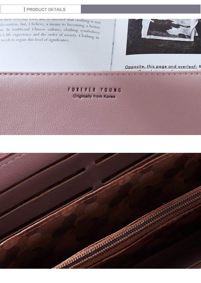 Women Long Clutch Wallet Large Capacity Wallets Female Purse Lady Purses Phone Pocket Card Holder Carteras 34