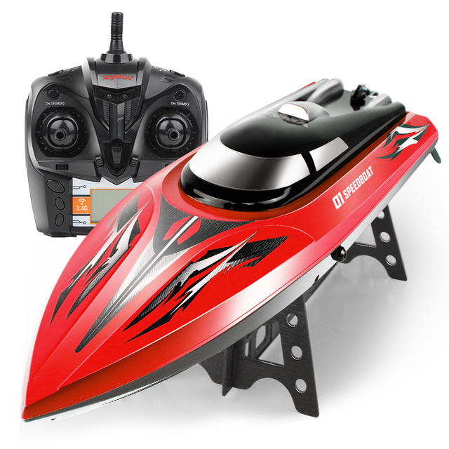 New Arrival 43CM Huge Toys SYMA Q1 Remote Control Speedboat 2.4GHZ 4CH RC  Boat Water
