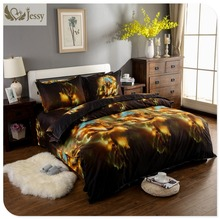 Home Textiles 3D Galaxy Bedding Sets wolf Twin/Queen/King Size Universe Outer Space Themed Bedspread Linen Bed Duvet Cover Set