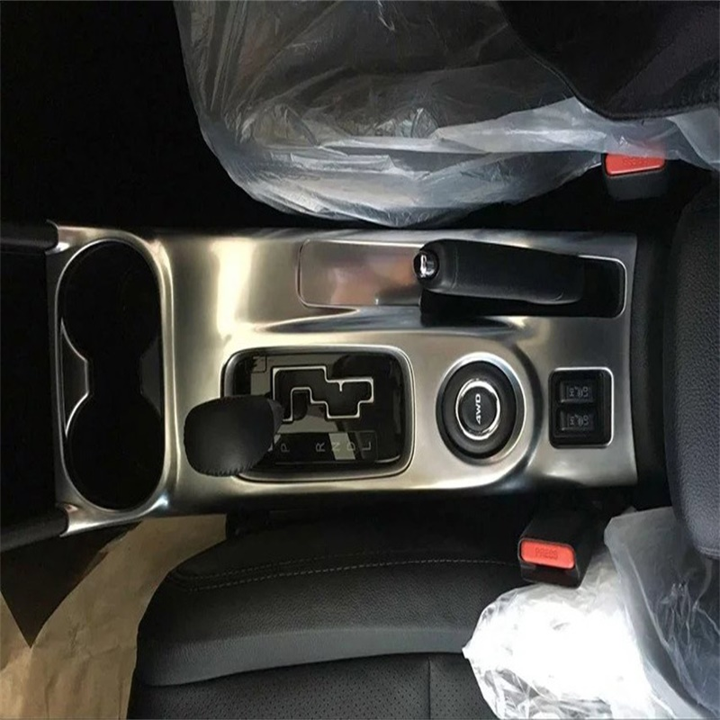 ФОТО For Mitsubishi outlander 2016 Gear box cover glass decorative box cup holder frame sticker for outlander Styling accessories