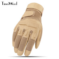 [TIMESWOOD] Excellent Carbon Hard Knuckle Gloves Tactical Fight Full Fingers Wrist Mittens US Army Glove For Men High Quality