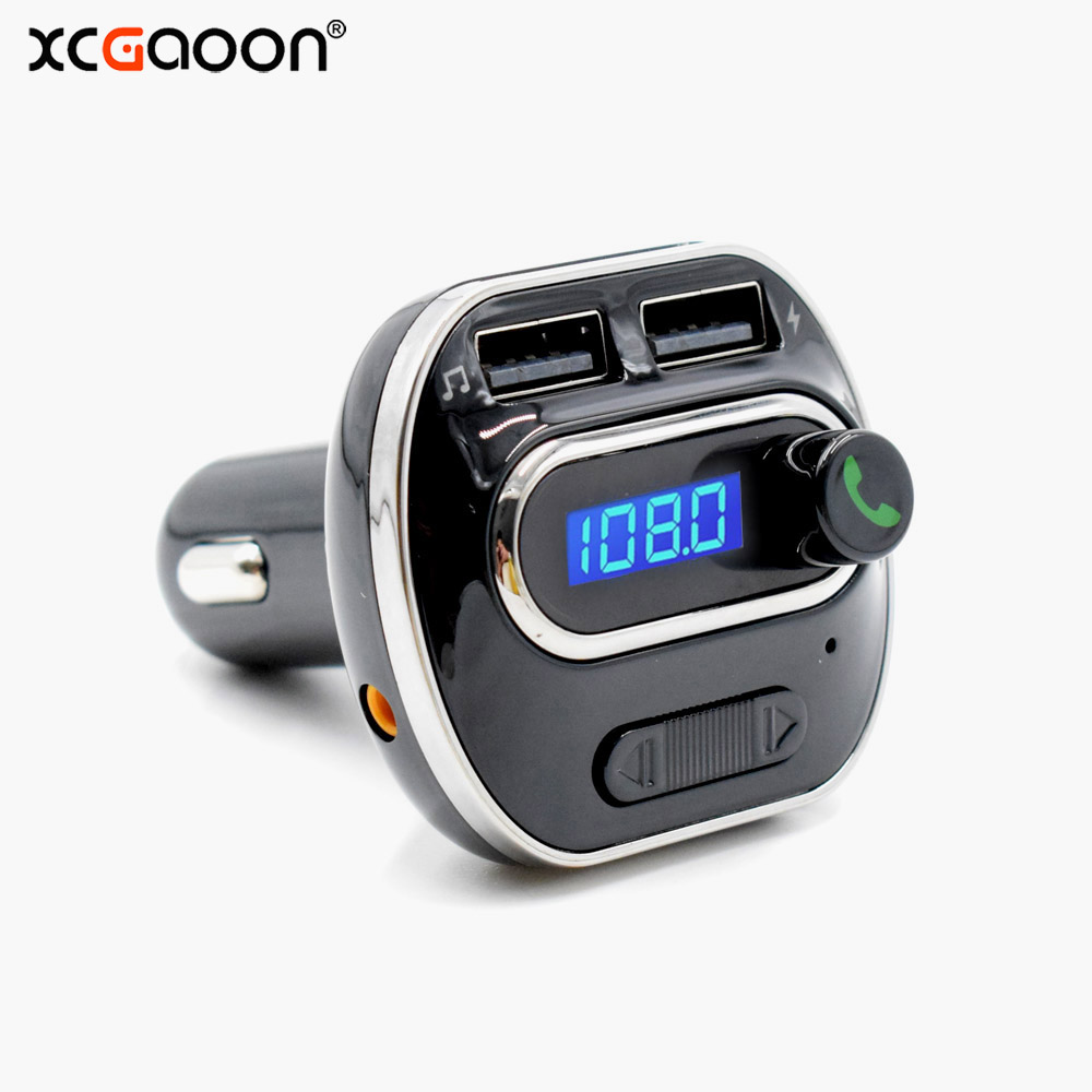 xcgaoon bluetooth 4 1 car kit handsfree set mp3 player fm. Black Bedroom Furniture Sets. Home Design Ideas