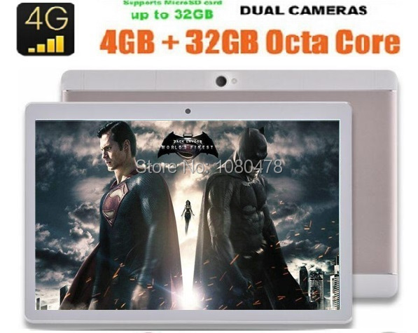 10 inch Android 6 0 Tablet PC Phablet Tab Pad Octa Core 4GB RAM 64GB ROM