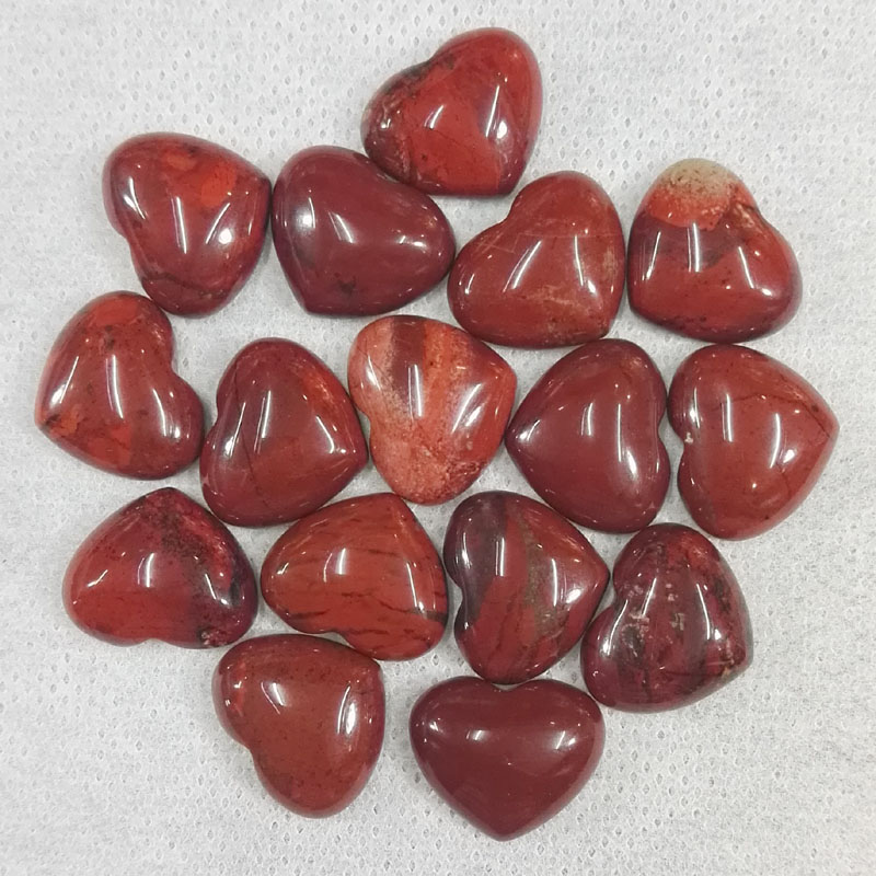 fashion 18MM Heart shaped cab cabochon red Rainbow natural stone beads for making Jewelry Charm parts 24Pcs/lot Free shipping
